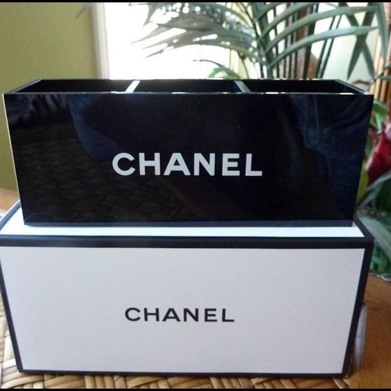 Chanel vanity makeup organizer New with box- no trades no offers please. I give discounts on bundles  CHANEL Accessories