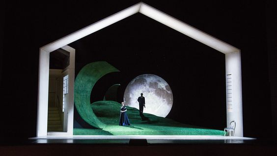 Werther from Aalto-Theatre Essen. Sets and costumes by Frank Schlössmann.
