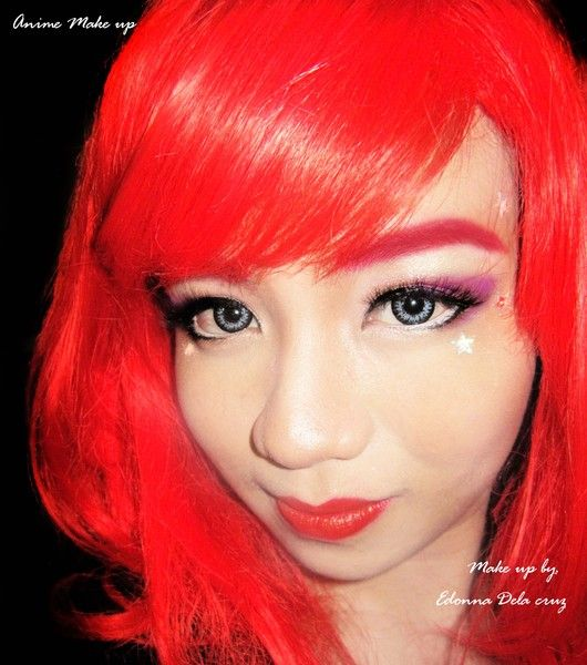 Anime Make up look http://www.makeupbee.com/look.php?look_id=62056