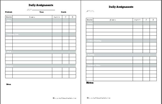 Homeschooling Daily Assignments - Counting Change Again - assignment sheet template