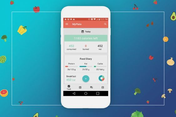 تطبيق Myplate Calorie Tracker يحسب السعرات الحرارية ويقدم وسائل لزيادة أو إنقاص الوزن Calorie Tracker Calorie Tracker App Blackberry Nutrition