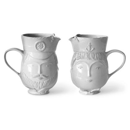 Utopia Sailor / Captain Pitcher set by Jonathan Adler >> Absolutely Marvelous!: Captain Pitcher, Gifts Utopia, Utopia Sailor, Adler Interesting, Ceramic Perfection, Jonathan Adler, Pitcher Jonathan, Adler Utopia
