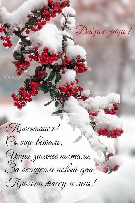 Kartinki S Dobrym Zimnim Utrom S Pozhelaniyami 70 Kartinok S