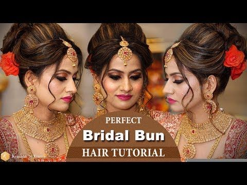 Best Bridal Hairstyle Tutorial Video Step By Step Trendy Bridal Hairstyles Krushhh By Konica Youtube Hair Tutorial Bun Hairstyles Hair Bun Tutorial