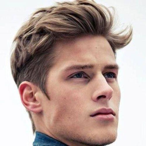 Messy Textured Medium Length Top Classic Tapered Sides Wavy Hair Men Medium Length Hair Men Mens Hairstyles Medium