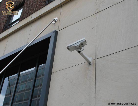 Outdoor bullet surveillance security HD camera installation by A.S. SECURITY & SURVEILLANCE INC