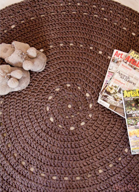 Alfombra de ganchillo xxl con patr n crochet rag rugs - Alfombras ganchillo trapillo ...