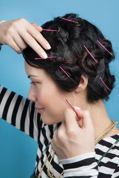 Easy Pinned- up Curls