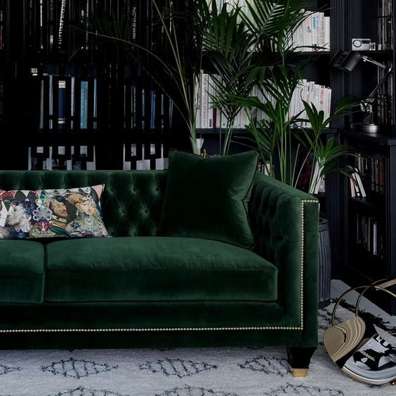 Tailored, Trendy and Art Deco! Balfour is our most charming, luxury sofa boasting a fusion of contemporary and classic style, perfectly combined in this divine hand finished piece. Photographed in House Velvet - Forest Green with gold studding, gold capped feet and lush deep buttoning, one could say this designer sofa is a real stud! Oh, and did we mention that the Balfour sofa comes with one or two complimentary feather filled scatter cushions for that extra snuggle factor, depending ..