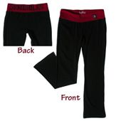Black Crop Yoga Pants with Seminoles