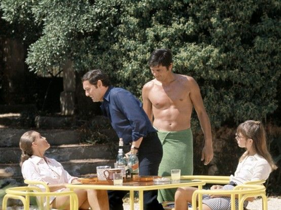 Romy schneider film and alain delon on pinterest for Alain delon la piscine