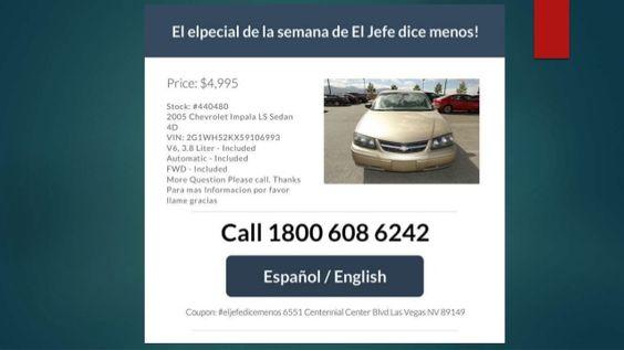 carros en venta en Las Vegas Nevada  Para mi record preparación de la slide show