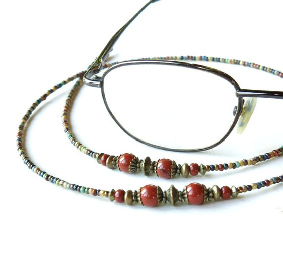 Glasses chain  beaded eyeglass lanyard  sunglasses by dalystudios