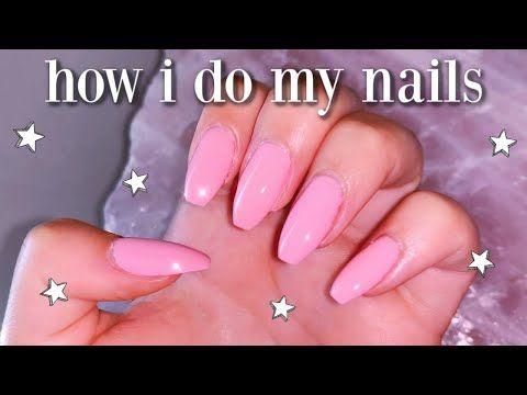 How I Do My Nails At Home Diy Fake Nails No Acrylic Youtube In 2020 With Images Nails Fake Nails Gel Nail Kit