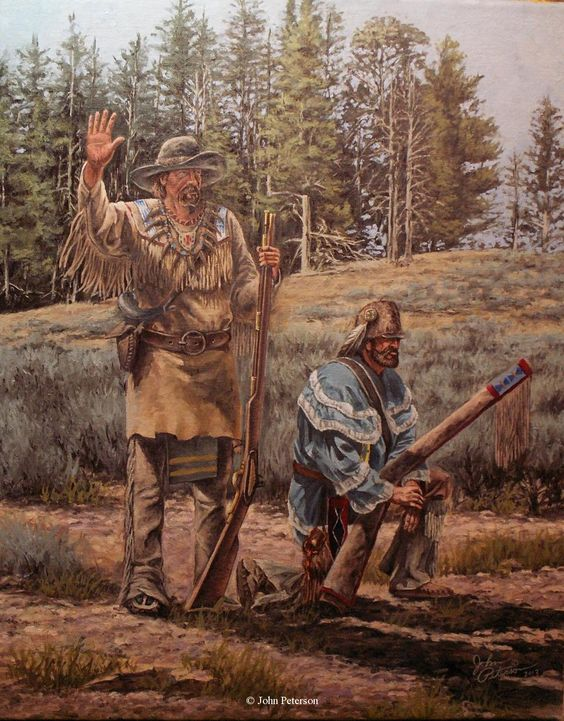 Art Painting Mountain Men Mountain Man Art Western