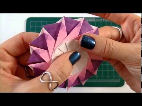 Origami: mandala Junko - Criação Isa Klein - YouTube