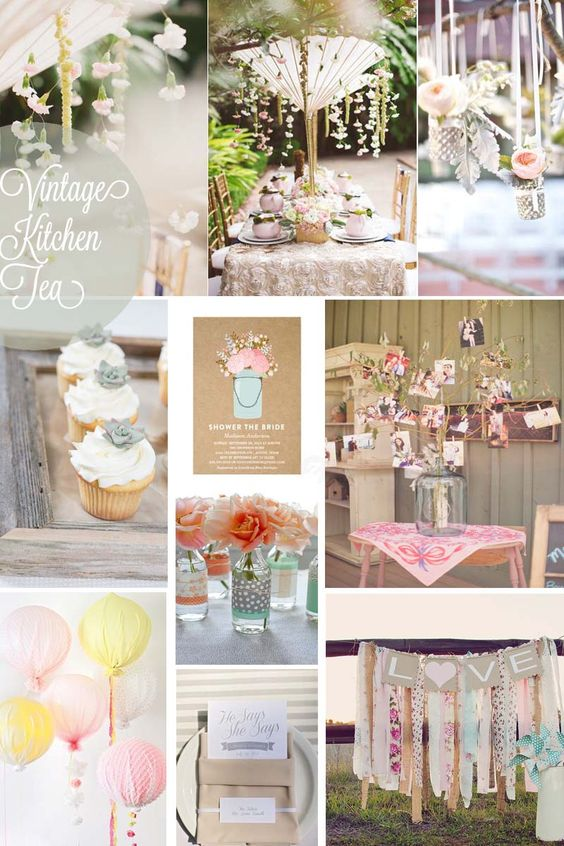 Vintage kitchen tea wedding bells pinterest vintage for Bridal shower kitchen tea ideas