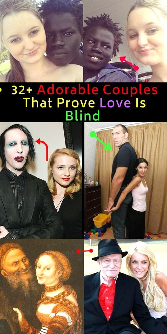32 Adorable Couples That Prove Love Is Blind Relationship Cute Couples Funny Relationship Memes Couples