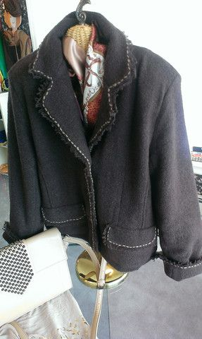 Avalin lined topstiched jacket