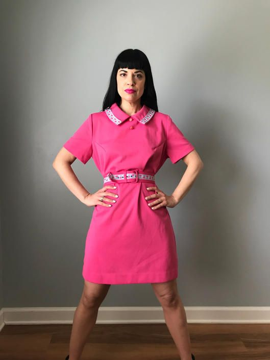 Vintage 60s Pink Scooter Dress W Belt By Speakvintagedc From Speak Vintage Of Washington Dc Attic In 2020 Scooter Dress Dresses Ivory Bridesmaid Dresses