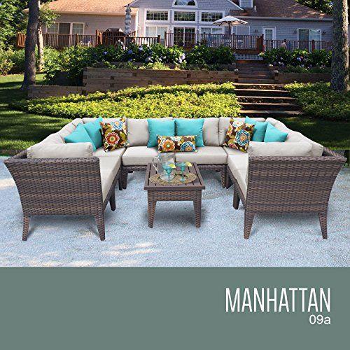 Manhattan 9 Piece Outdoor Wicker Patio Furniture Set 09a Find