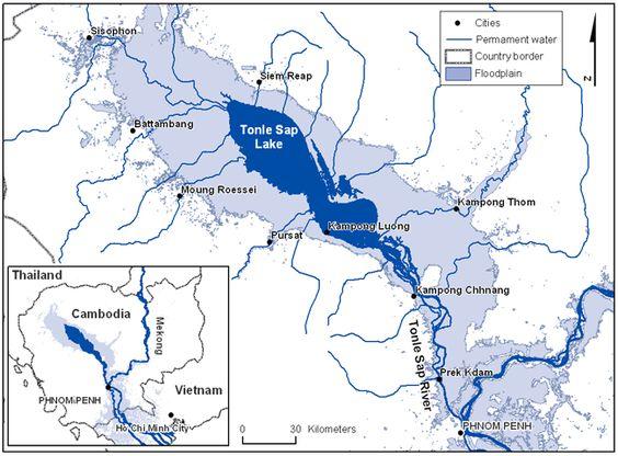 Tonle Sap - hồ nước ngọt lớn bậc nhất Đông Nam Á