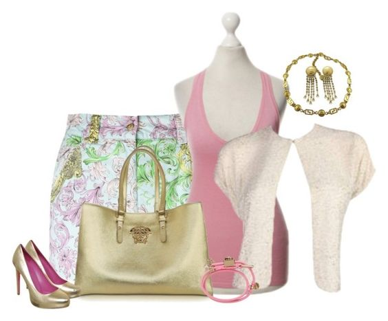 """Versace Set"" by coromitas on Polyvore featuring moda y Versace"