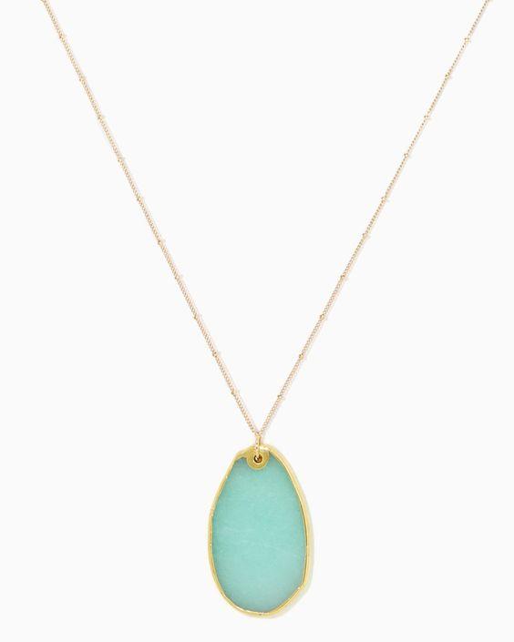 charming charlie | Seafoam Agate Stone Pendant #charmingcharlie