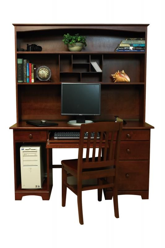 College Woodwork Canadian-Made Home Office Furniture Home Office Hutch  Shown in Java