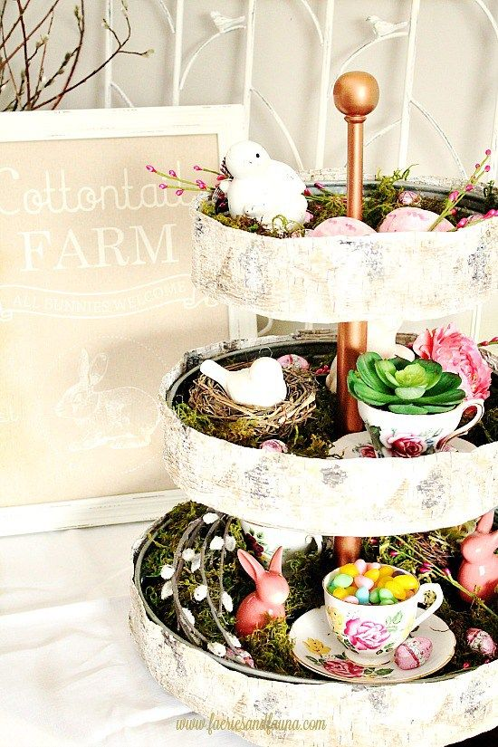 Tiered Tray Ideas For Spring Decor Tray Decor Tiered Tray Decor