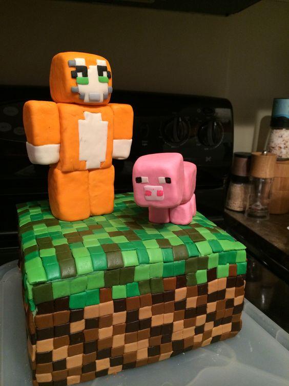 Stampy Longnose Minecraft birthday cake for my son ...