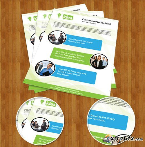Corporate Single Side Brochure PSD Template for Photoshop - company profile sample download