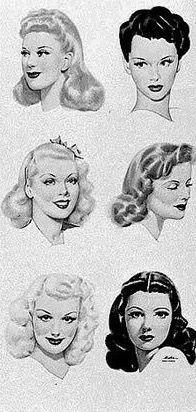 El Peinado Hacia Adentro Fue Debido A Que Ya No Podian Ir Al Salon De Belleza A Ponerse Rubias Y Las Raic Retro Hairstyles 1940s Hairstyles Vintage Hairstyles