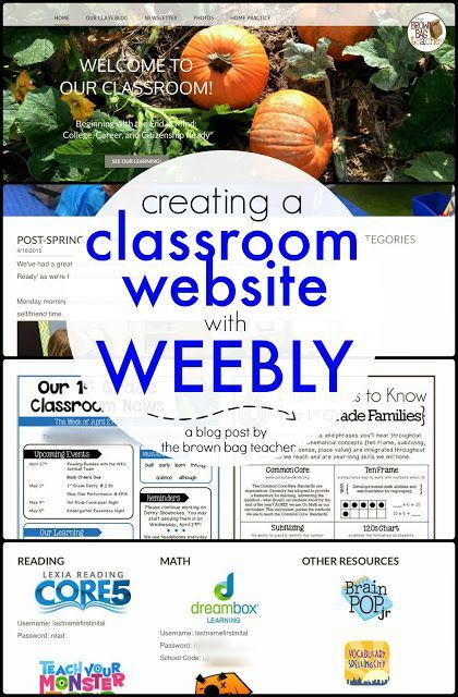 Creating a Classroom Website using Weebly | The Brown-Bag Teacher | Bloglovin'