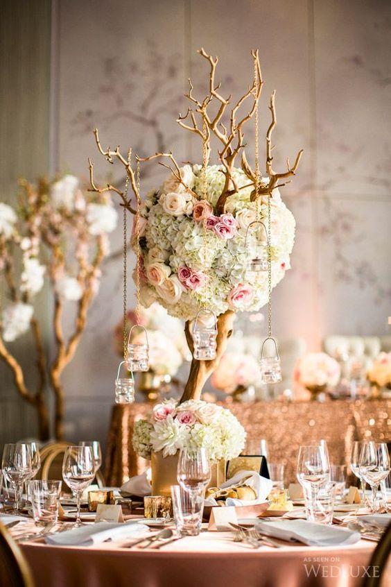 Ideas para decoraci n de bodas en rosa y dorado bodas for Ideas de decoracion para bodas