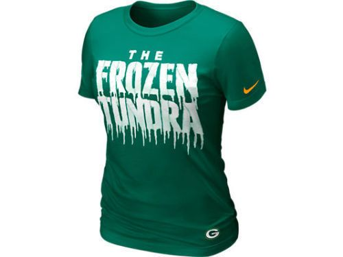Green Bay Packers Nike NFL Women's Frozen Tundra T Shirt NWT S & L ...