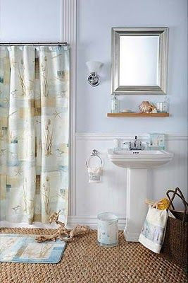 I like this shower curtain for my downstairs BR.