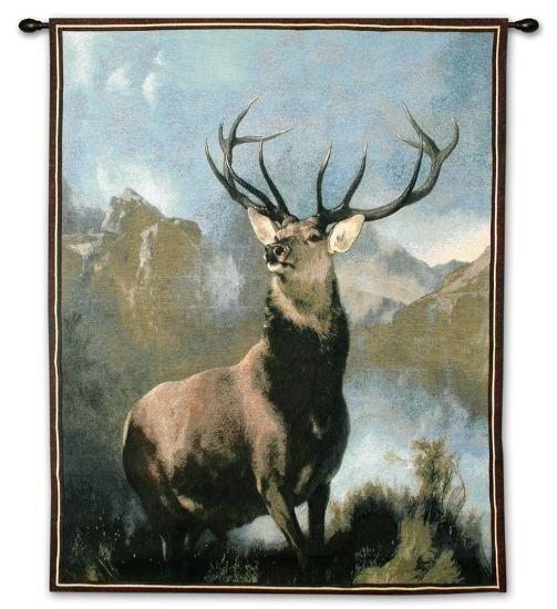 Monarch Of The Glen Wall Tapestry By Edwin Henry Landseer Art