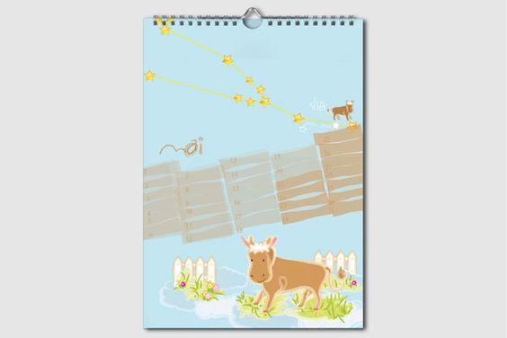Sternzeichen Geburtstagskalender. Jeden Monat ein neuer Schatz. Kalender ohne Jahreszahl und Tagesangabe, wiederverwendbar, DIN A4, Mai