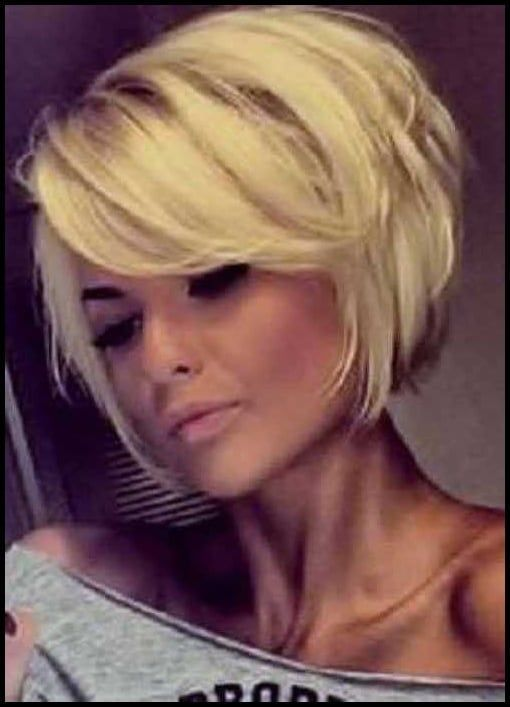 Kurze Bob Frisuren Mit Pony Vlasy Pinterest Bobs Hair Style Einfache Frisuren Bob B Short Hair With Bangs Short Bob Hairstyles Bobs Haircuts