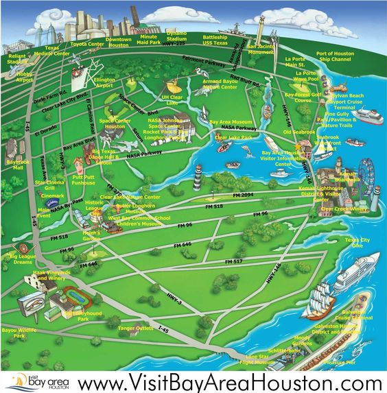 kemah seabrook map Map League City Galveston Bay Pinterest
