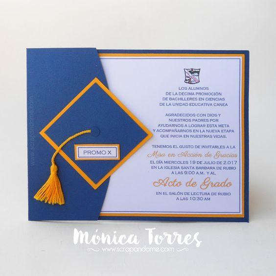Scrapandome Con Los Recuerdos De Graduación Invitaciones