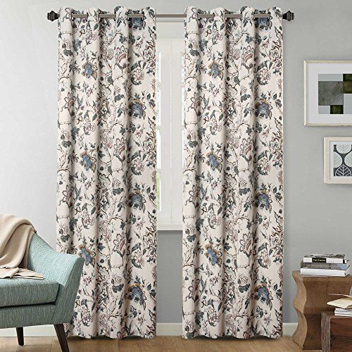 H Versailtex Thermal Insulated Extra Long Curtains 108 Inch Length Vintage Fl Hversailtex