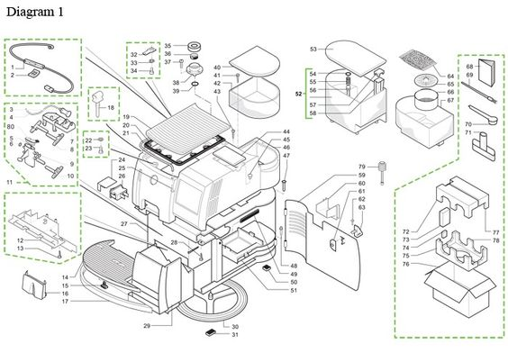 Saeco Royal Professional Parts Diagram Part Diagrams
