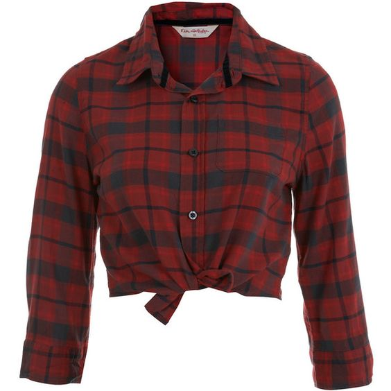 Red Crop Check Shirt ($17) ❤ liked on Polyvore featuring tops, shirts, crop tops, remeras, cotton crop top, red checkered shirt, red top, crop shirts and checkered top
