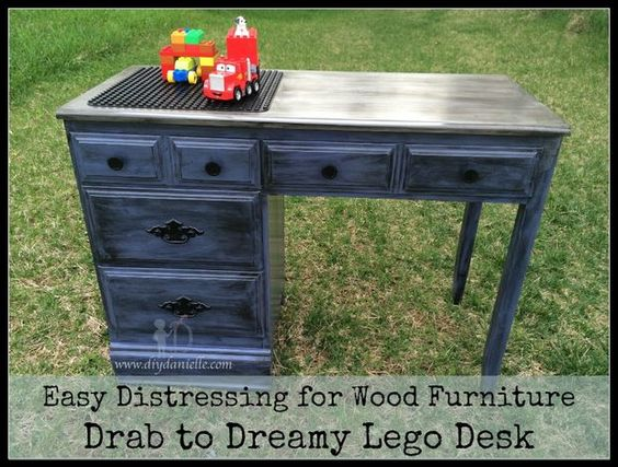 Picture of Fabulous Distressed Lego Desk: How To