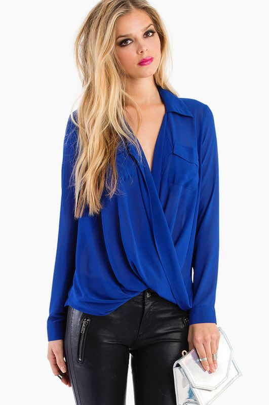 Aubrey Twist Top | Cute blouses, Leather and Aubrey o'day