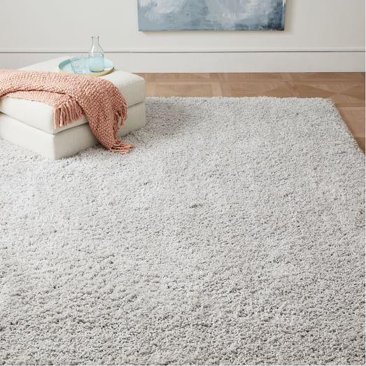 Bello Shag Wool Rug West Elm Plush Rug Rugs In Living Room Room Rugs