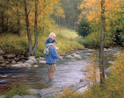 *Helping dad fish...Robert Duncan