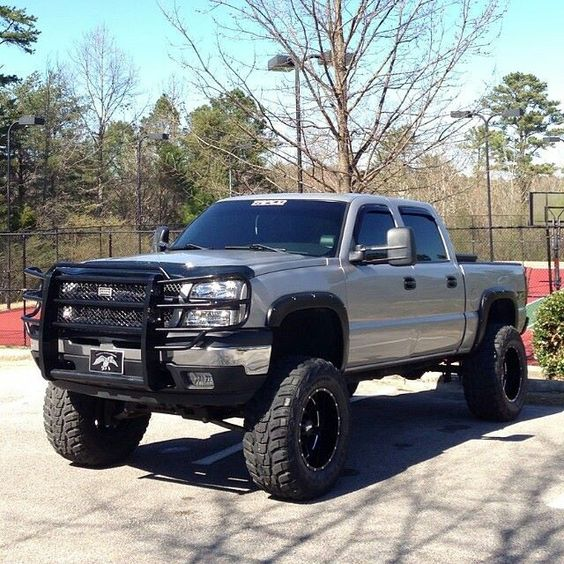 silver silverado lifted images - photo #7